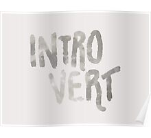 Introvert - Just A Word Poster