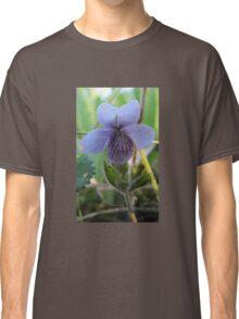 floral flower blue Classic T-Shirt