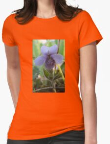 floral flower blue Womens Fitted T-Shirt
