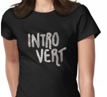 Introvert - Just A Word Womens Fitted T-Shirt