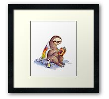 Cozy Sloth Framed Print