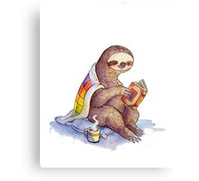 Cozy Sloth Metal Print