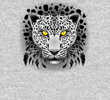 White Leopard with Yellow Eyes Unisex T-Shirt