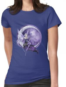 Purple Moon Fairy Womens Fitted T-Shirt