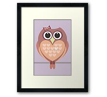 OWL WITH HEARTs Framed Print