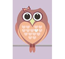OWL WITH HEARTs Photographic Print