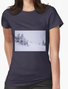 In snow Womens Fitted T-Shirt