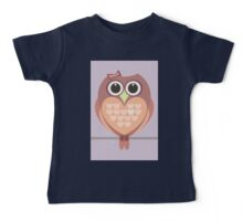 OWL WITH HEARTs Baby Tee