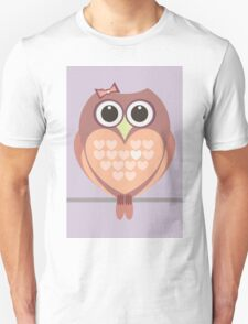 OWL WITH HEARTs Unisex T-Shirt