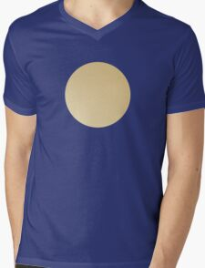Blue on gold polka dots Mens V-Neck T-Shirt