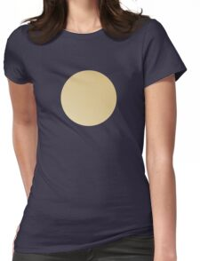 Blue on gold polka dots Womens Fitted T-Shirt