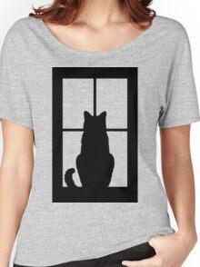 Window Cat Women's Relaxed Fit T-Shirt