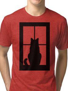 Window Cat Tri-blend T-Shirt