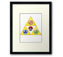 Zelda Triforce Wind Waker/ Pokemon Framed Print
