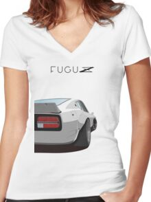 Fugu z Women's Fitted V-Neck T-Shirt