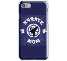 Karate Mom Crest, Side Kick Silhouette & Kanji iPhone Case/Skin