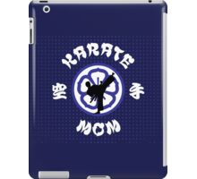 Karate Mom Crest, Side Kick Silhouette & Kanji iPad Case/Skin