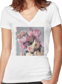 Kanye West 808s & Heartbreak LA Show Shirt Women's Fitted V-Neck T-Shirt
