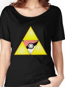 Zelda Triforce (Courage, Wisdom, Power, and Pokemon) Women's Relaxed Fit T-Shirt