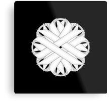 White Flower Ribbon Metal Print