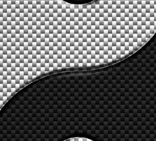 Yin Yang in Carbon Fiber Print Style Sticker