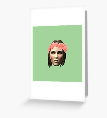 Lydia Flower Crown Greeting Card