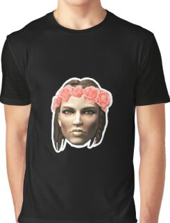 Lydia Flower Crown Graphic T-Shirt