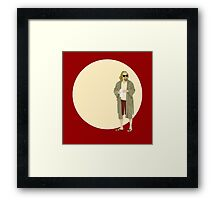 The Dude The big Lebowski Circle Framed Print
