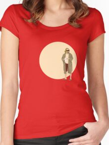 The Dude The big Lebowski Circle Women's Fitted Scoop T-Shirt