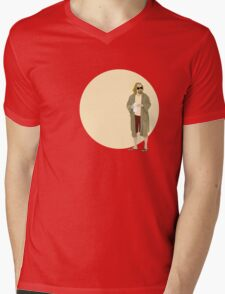 The Dude The big Lebowski Circle Mens V-Neck T-Shirt