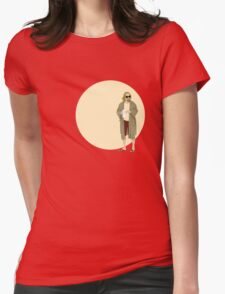 The Dude The big Lebowski Circle Womens Fitted T-Shirt