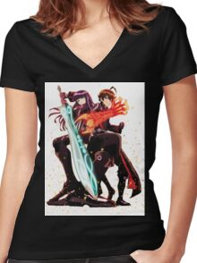 Sousei no Onmyouji (Twin Star Exorcists) Women's Fitted V-Neck T-Shirt