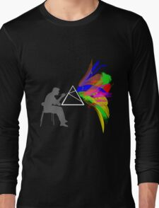 Triangle Color Splash Long Sleeve T-Shirt