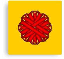 Red Flower Ribbon Canvas Print