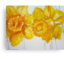 Daring Daffodils Canvas Print