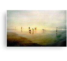 Ten People on A Beach Canvas Print