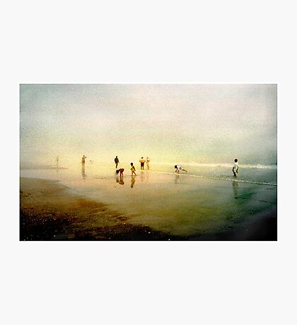 Ten People on A Beach Photographic Print