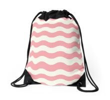 Waves retro old graphic Drawstring Bag