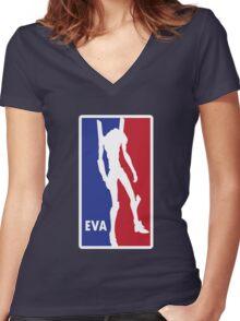 Evangelic Varsity Athletics Women's Fitted V-Neck T-Shirt