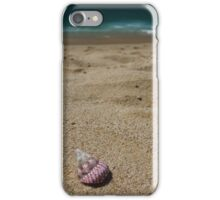 Pink shell on the shore iPhone Case/Skin