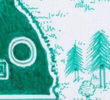 Green Fantasy Landscape  Sticker