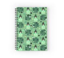 Lucky Furisode Girl Green Pattern Spiral Notebook