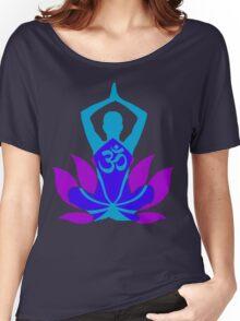 OM Namaste Yoga Pose Lotus Flower Women's Relaxed Fit T-Shirt