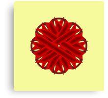 Burgundy Flower Ribbon Canvas Print