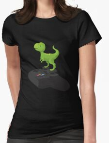 Toy T-Rex Gamer Womens Fitted T-Shirt