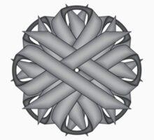 Gray / Grey Flower Ribbon One Piece - Short Sleeve