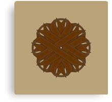 Brown Flower Ribbon Canvas Print