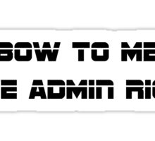 Admin Rights Sticker