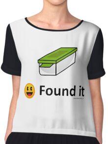 Found It - Geocache Box & Smiley Face Icon Chiffon Top