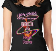 80's Child Rocker or Raver music lover Women's Fitted Scoop T-Shirt